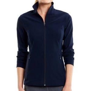 lucy • lucytech navy athletic zip up sweatshirt